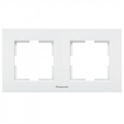 dupla vízszintes modul keret, Karre Plus Pansonic, fehér