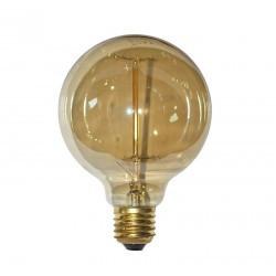Gömb alakú vintage izzó, Edison, G95 40W E27