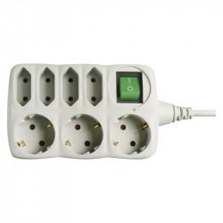 Hosszabbító kábel 3 aljzat földeléssel + 4 aljzat földelés nélkül, 1,5 m kábel, Emos