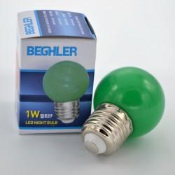 LED izzó 1W Zöld E27, Braytron