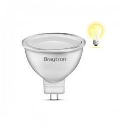 LED izzó 5W MR16 120 fokos 220V, Braytron, meleg fény