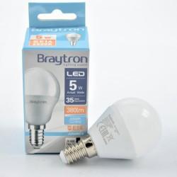 LED izzó 5W P45 E14, Braytron, hideg fény