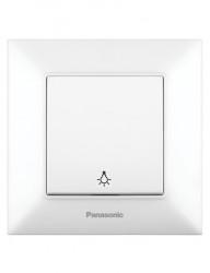 Nyomókapcsoló , 10A, IP20, fehér, Panasonic Arkedia Slim