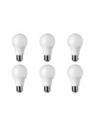 Set 6 becuri led E27, 7W (37W), 6000K, 560lm, lumina rece A+, Optonica