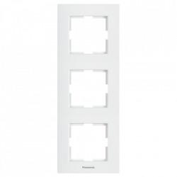 Sorolókeret 3 modul, függőleges Karre Plus Pansonic, fehér