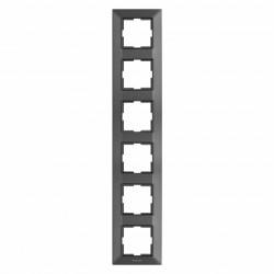 Sorolókeret 6 modul, függőleges, IP20, grafit, Panasonic Arkedia Slim
