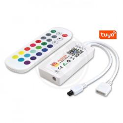 Vezérlő + távirányító RGB Smart Wifi Tuya, 5-24V, 6A
