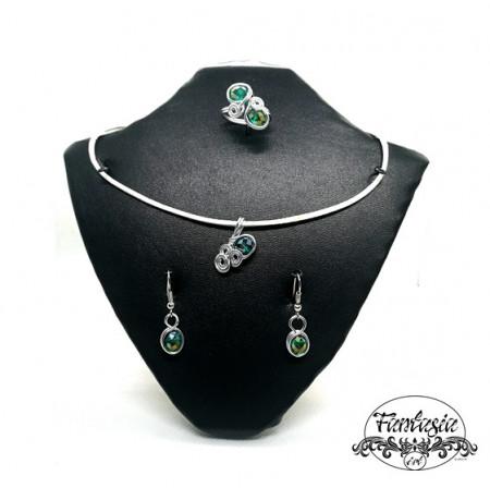 Set bijuterii Turmalină verde