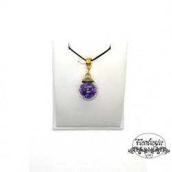 Colier cristale purple