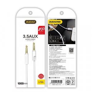 Cablu AUX 3,5 mm Dudao 1m stereo 3 poli alb