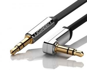 Cablu AUX Ugreen 3,5 mm mini jack plat 5m argintiu