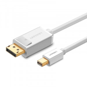 Cablu Mini DisplayPort la DisplayPort UGREEN MD105 4K 60Hz bidirecțional 1 5m (alb)