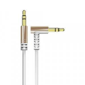 Cablu unghiular Dudao AUX mini jack 3,5 mm 1m cablu alb
