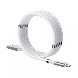 Cablu USB tip C magnetic autoorganizat Remax - 2,1 A 1 m alb