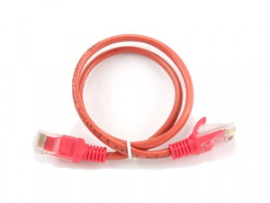 "Patch cord CAT5e UTP , red, 0.25 m, Gembird ""PP12-0.25M/R"""