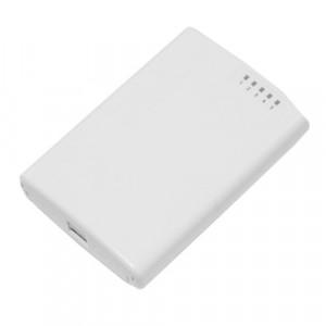 Router PowerBox de exterior, 5 x Fast Ethernet, 4 x PoE, RouterOS L4 - Mikrotik RB750P-PBr2