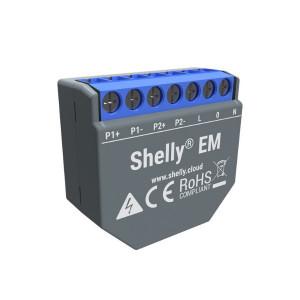 Shelly EM Contor de energie monofazat cu 2 canale cu controlul contactorului