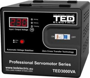 Stabilizator retea maxim 3000VA-SVC cu servomotor TED3000SVC