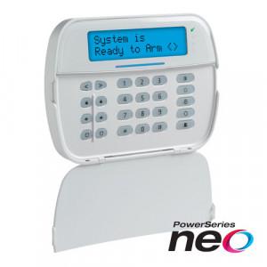 Tastatura LCD alfanumerica + modul wireless , cablata, 128 zone, SERIA NEO - DSC NEO-HS2LCD-RF