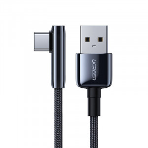Cablu Ugreen elbow USB - USB Type C cable 5 A Quick Charge 3.0 SCP FCP 2 m black (70434 US313)