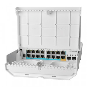 Cloud Router Switch outdoor 16 x 10/100Mbps (15 PoE inversate), 2 x SFP - Mikrotik CRS318-1Fi-15Fr-2S-OUT