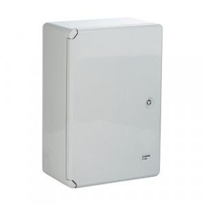 Cutie distributie IP65 din ABS gri, usa mata, placa metalica, 200x300x130 mm PP3001