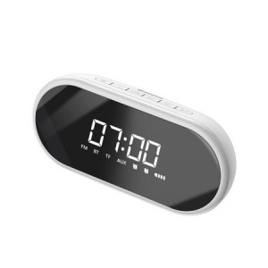 Difuzor Bluetooth fără fir Baseus Encok E09, ceas cu alarma (alb)
