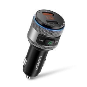 Incarcator auto si transmitator radio Ugreen USB Uxenen 2x Quick Charge 3.0 FM