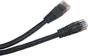 Patch Cord UTP Cat5e. 1 m Negru