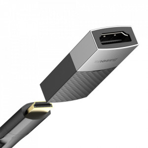 Adaptor Baseus HDMI la HDMI 4K/60Hz - negru