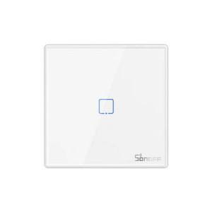 Buton Sonoff T2EU1C-RF Wi-Fi 1 canale 433MHz Telecomandă RF alb