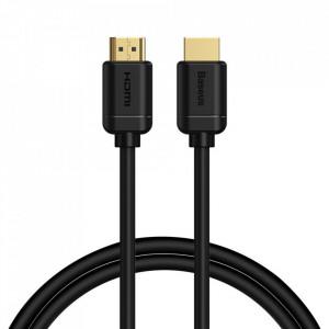 Cablu HDMI 2.0 Baseus 4K 60 Hz 3D HDR 18 Gbps 5 m negru (CAKGQ-C01)