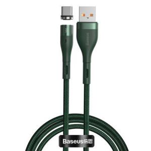 Cablu magnetic Baseus USB - USB-C Zinc 5A 1m (verde)