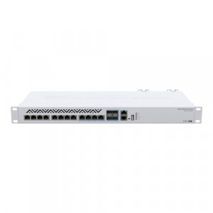 Cloud Router Switch, 8 x 10G Ethernet, 4 x 10G combo RJ45/SFP+, - Mikrotik CRS312-4C+8XG-RM