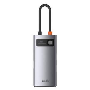 Hub 4in1 Baseus Metal Gleam, USB-C la USB 3.0 + USB 2.0 + HDMI + USB-C PD