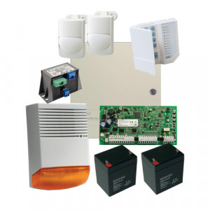 Kit alarma la efractie DSC cu sirena exterioara KIT1616EXT-BS1-OPT