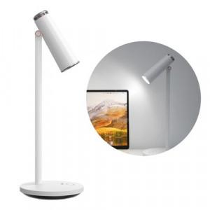 Lampa LED de birou pentru citit, fara fir, cu acumulator 1800 mAh alb