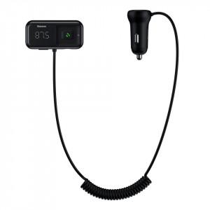 Modulator FM + incarcator auto Baseus negru