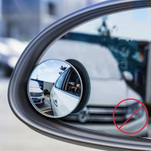 Oglinda retrovizoare Baseus vedere completă 2x Oglindă extra rotundă negru