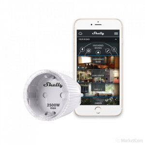 Priza inteligenta Wifi Shelly Plug S cu monitorizare consum