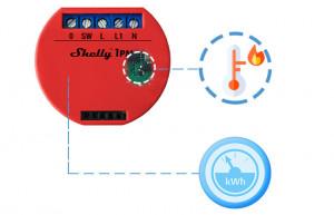 Releu Shelly 1PM WiFi cu un singur canal cu monitorizare consum