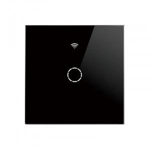 SmartWise T4 EU 1C R2 WiFi + RF comutator de lumină inteligent negru