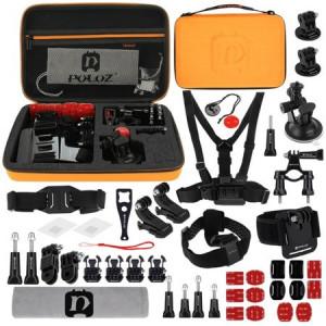 Accesorii Puluz 45 în 1 Kituri Combo Ultimate pentru camere sport
