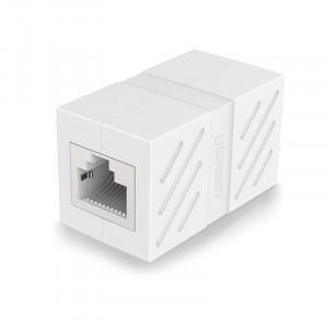 Adaptor Ugreen pentru cablu de retea RJ45 alb