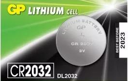 Baterie GP Batteries CR2032 3V lithium, blister 1 buc