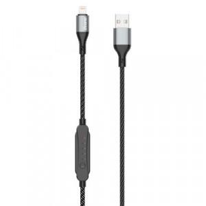 Cablu USB Dudao tip lightning 5 A 1 m Temporizator de încărcare 1 - 5 h negru