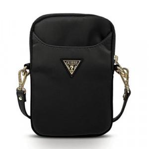 Geantă de mână Guess Nylon Triangle Logo negru