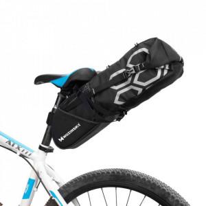 Geantă mare pentru bicicletă Wozinsky sub șa 12 L negru