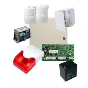 Kit alarma la efractie DSC cu sirena interioara KIT1616INT-OPT