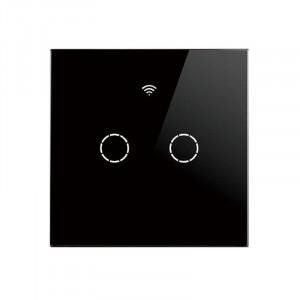 SmartWise T4 EU 2C R2 WiFi + RF comutator de lumină inteligent negru